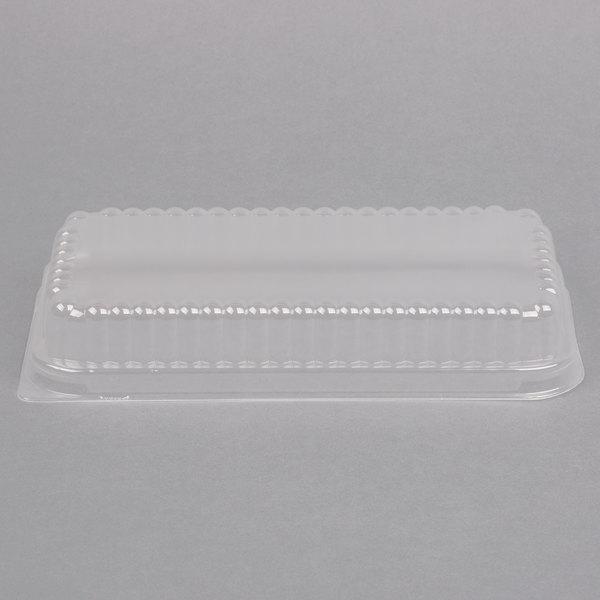 D&W Fine Pack 37564 Clear Dome Lid for 1 1/2 lb. Aluminum Foil Loaf Pan - 50/Pack