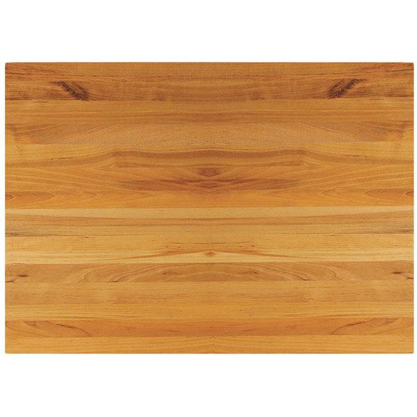"Tablecraft CBW1218175 18"" x 12"" x 1 3/4"" Wooden Butcher Board Chopping Block Main Image 1"