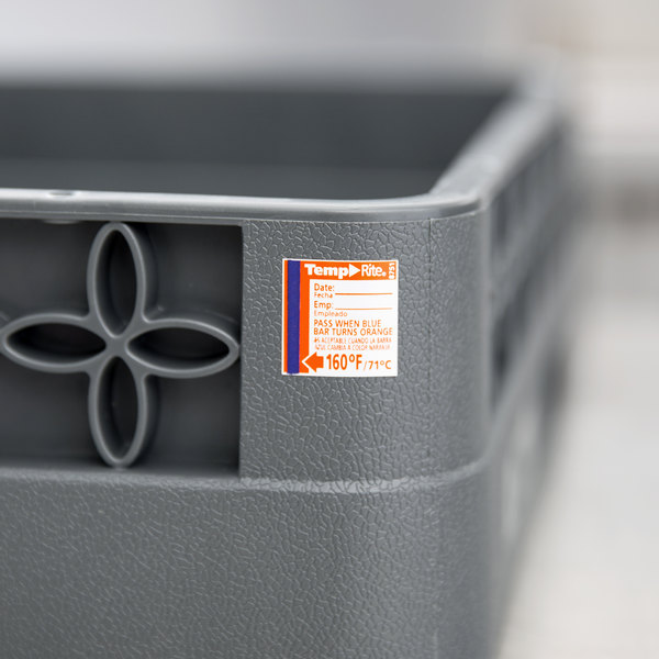 Taylor 8751 TempRite Single Use Dishwasher 160 Degrees F Test Label - 24/Pack