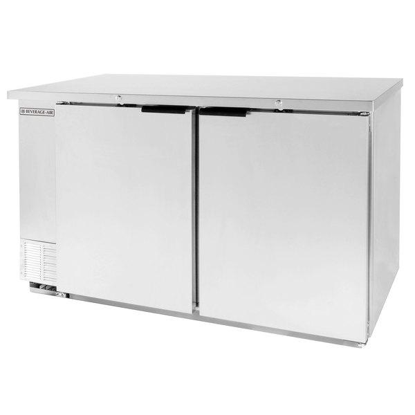 "Beverage-Air BB58-1-SS-WINE 59"" Stainless Steel Solid Door Back Bar Wine Refrigerator"