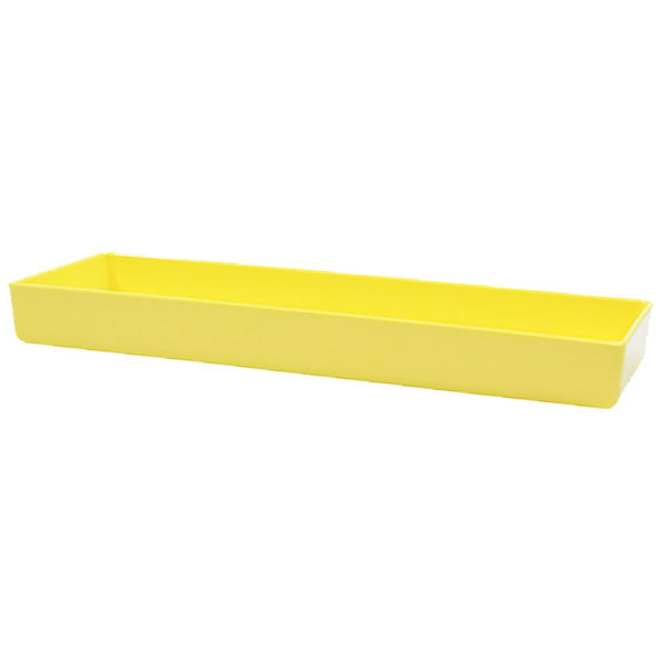 "Tablecraft M4007Y Contemporary Melamine Collection 1.25 Qt. Yellow Straight Sided Bowl - 15"" x 5"" x 1 1/2"""