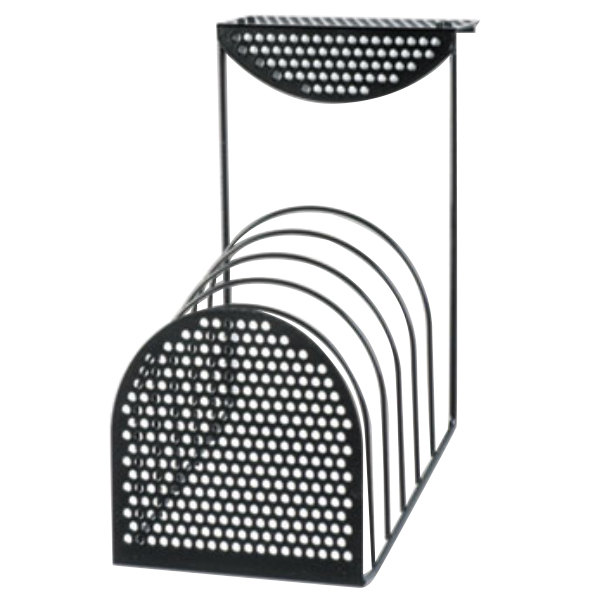 """Fellowes 22316 7"""" x 13"""" Black 6 Section Wire Hanging File Sorter"""