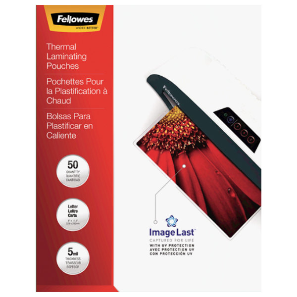 "Fellowes 5204002 ImageLast 11 1/2"" x 9"" Letter Laminating Pouch - 50/Pack"