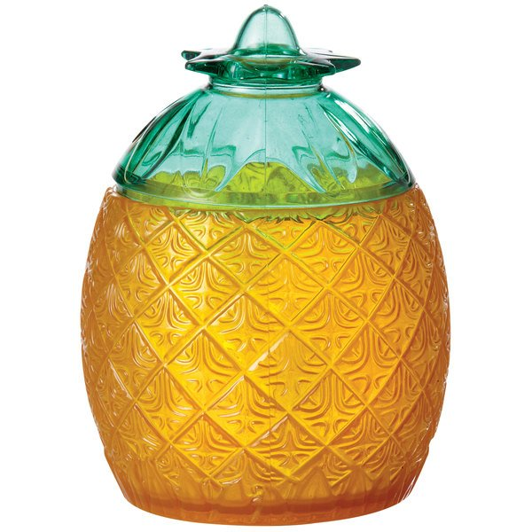 GET SW-1410 Cheers 20 oz. SAN Plastic Pineapple Glass with Lid - 24/Case Main Image 1
