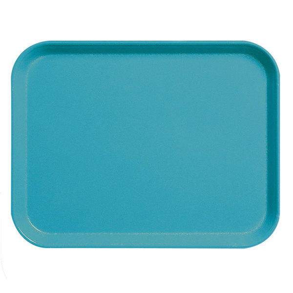 "Cambro 3253CL162 Camlite 13"" x 21"" Green Fiberglass Serving Tray - 12/Case Main Image 1"