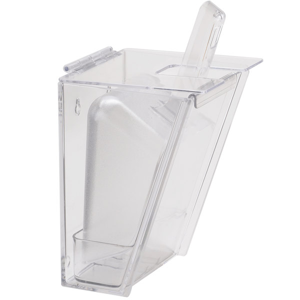 Cal-Mil 356 Wall Mount Scoop Holder with 32 oz. Scoop and Drip Tray