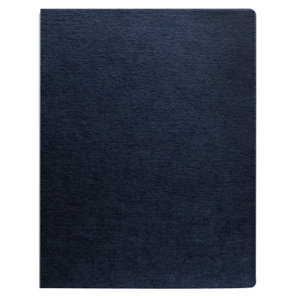 """Fellowes 52113 11 1/4"""" x 8 3/4"""" Navy Linen Texture Binding System Cover - 200/Pack Main Image 1"""