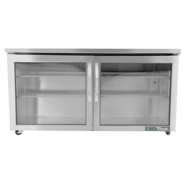 "True TUC-60G-ADA-HC~FGD01 60"" ADA Height Undercounter Refrigerator with Glass Door"