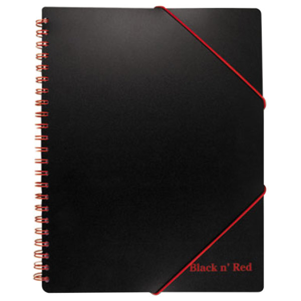"Mead 400077473 Wirebound Black 11 5/8"" x 8 1/4"" Legal Ruled Filing Notebook - 80 Sheets"