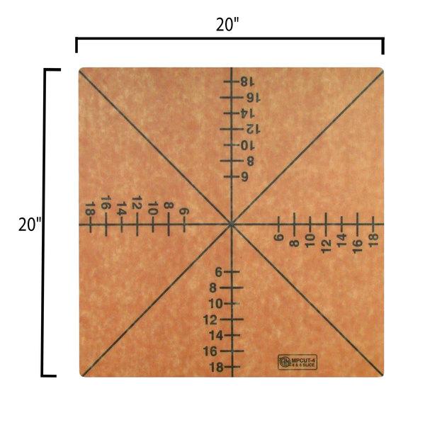 American metalcraft square laminate 6-slice pizza cutting board.
