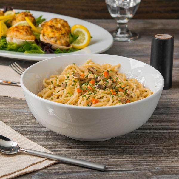 World Tableware 840 355 010 Porcelana 60 Oz Bright White Porcelain Noodle Soup Bowl 12 Case