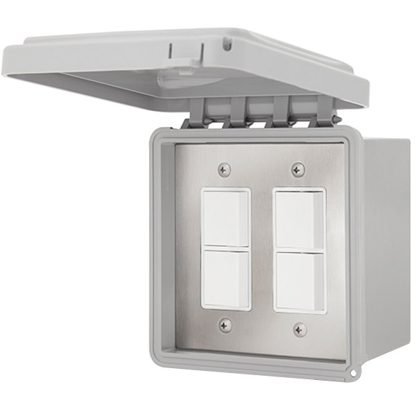 Schwank JM-4315-XX 2 Stage Flush Mount Patio Heater Control with Weatherproof Cover for Two Heaters Main Image 1