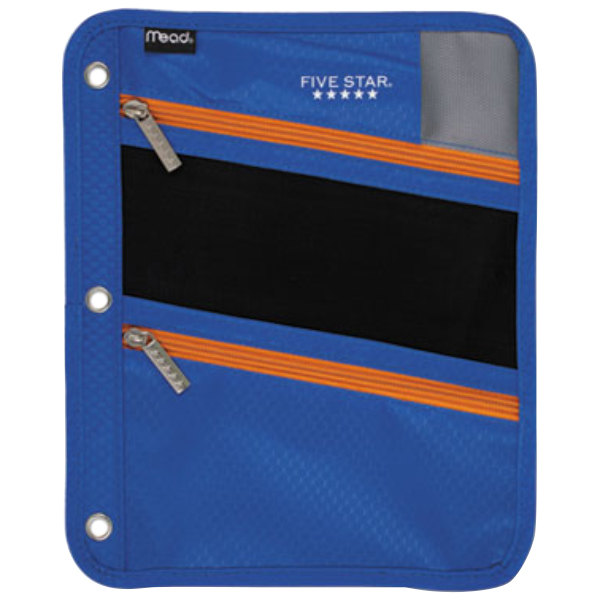 """Mead MEA50642BC7 8 3/4"""" X 11"""" Cobalt Pencil Pouch With"""