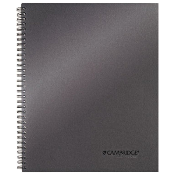 "Cambridge 06328 Wirebound Titanium 11"" x 9 1/4"" Legal Ruled Business Notebook - 80 Sheets"