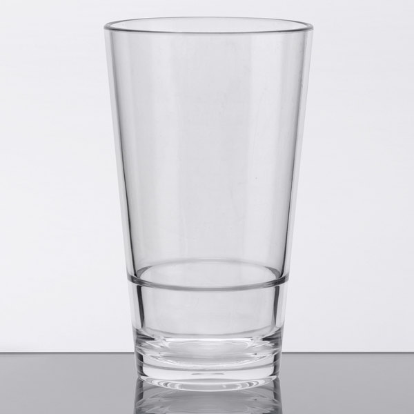 GET S-14-CL Revo 14 oz. Customizable SAN Plastic Stackable Mixing Glass - 24/Case Main Image 1