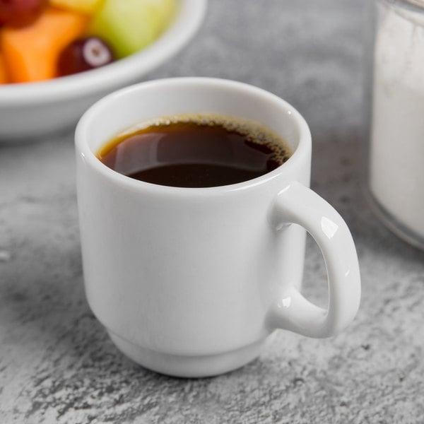 World Tableware 840-150-007 Porcelana 2.5 oz. Bright White Short Porcelain Espresso Cup - 36/Case Main Image 3