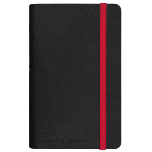 """Black n' Red 400065001 Soft Cover Black 5 1/2"""" x 3 1/2"""" Legal Ruled Notebook - 71 Sheets Main Image 1"""