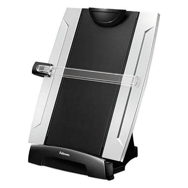 """Fellowes 8033201 Office Suites 10 1/4"""" x 6"""" x 15"""" Black / Silver 150 Sheet Plastic Desktop Copyholder"""