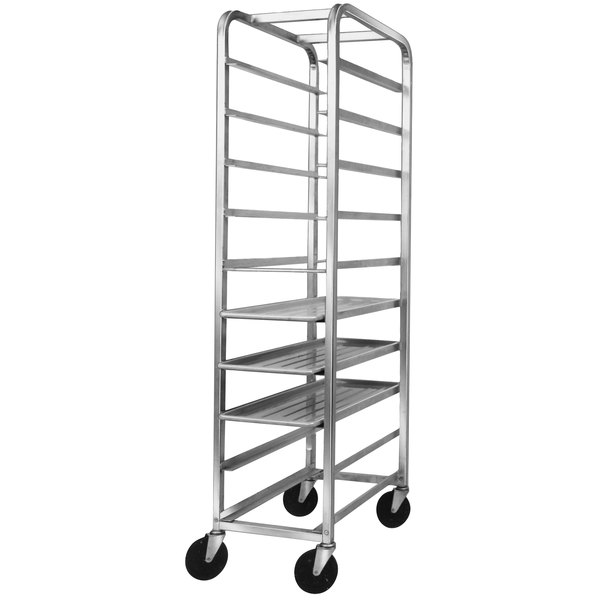 Channel 521SP Bottom Load Stainless Steel Platter Rack - 10 Shelf Main Image 1