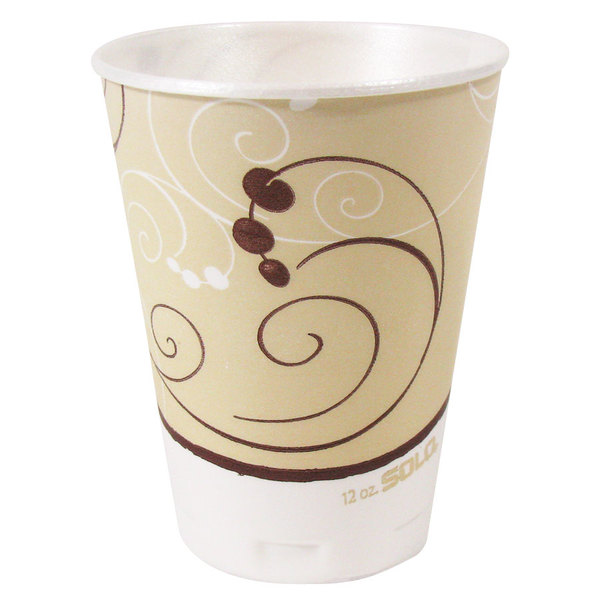 Solo X12-J8002 Trophy Plus 12 oz. Symphony Foam Cup - 1000/Case Main Image 1