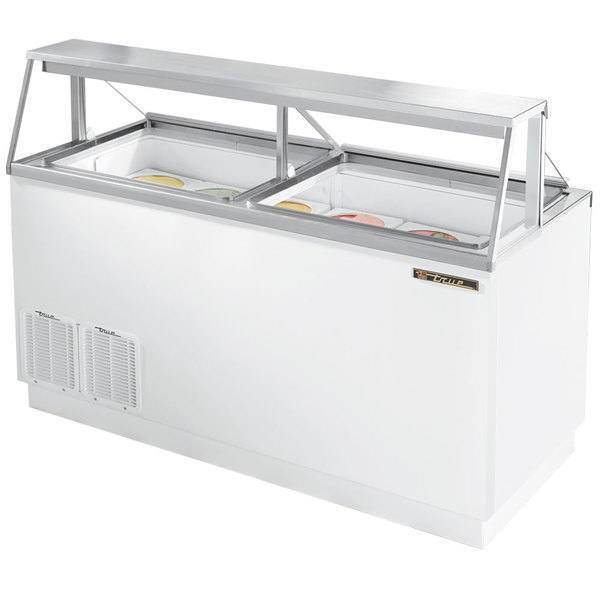 """True TDC-67 67"""" Straight Glass Ice Cream Dipping Cabinet"""