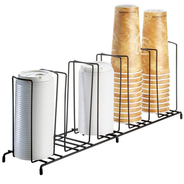 """Cal-Mil 1233 Iron Five Section Cup / Lid Organizer - 22"""" x 6"""" x 9"""""""