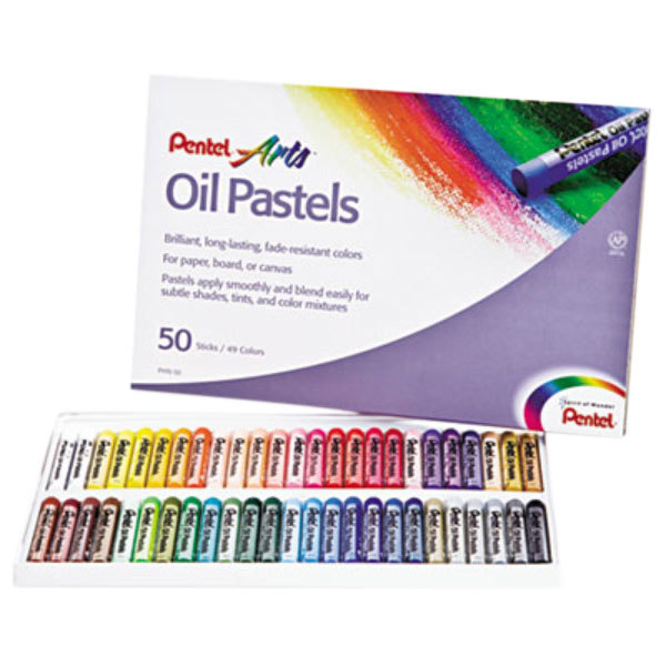 Pentel PHN50 45-Color Assorted Oil Pastel Set with Carrying Case Main Image 1