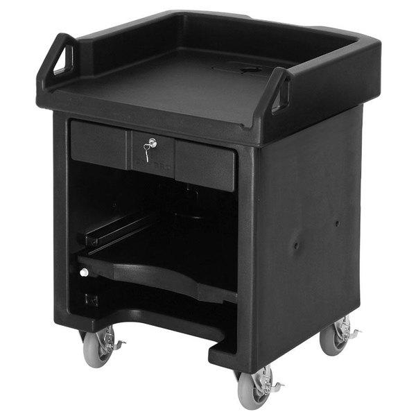 Cambro VCSHD110 Black Versa Cart with Heavy Duty Casters