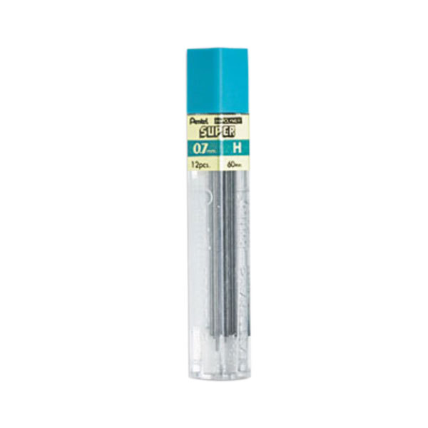 Pentel 50H Black 0.7mm HB #2 Lead Refill - 12/Pack