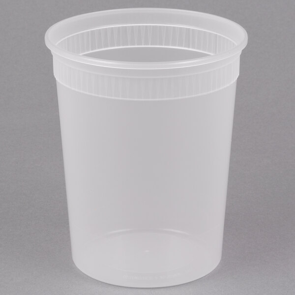 Pactiv/Newspring SD5032Y 32 oz. Translucent Round Deli Container - 480/Case