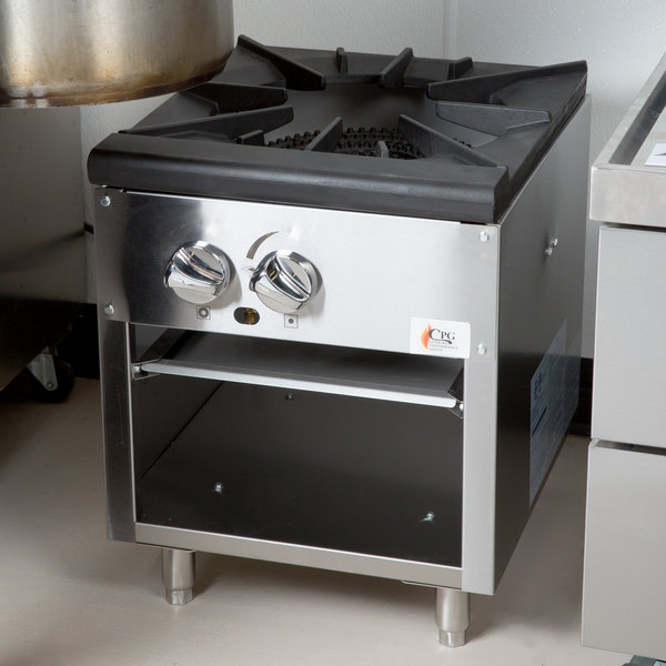 Cooking Performance Group CPG-SPR-18-N Natural Gas Stock Pot Range ...