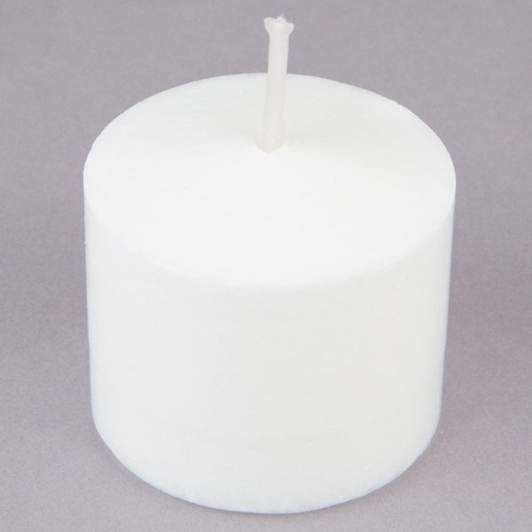 4731818bd1 Set the mood at your restaurant or catered event with this Leola Candle 10  hour white votive candle.