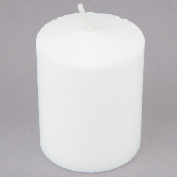 Leola Candle 15 Hour White Votive Candle  - 144/Case