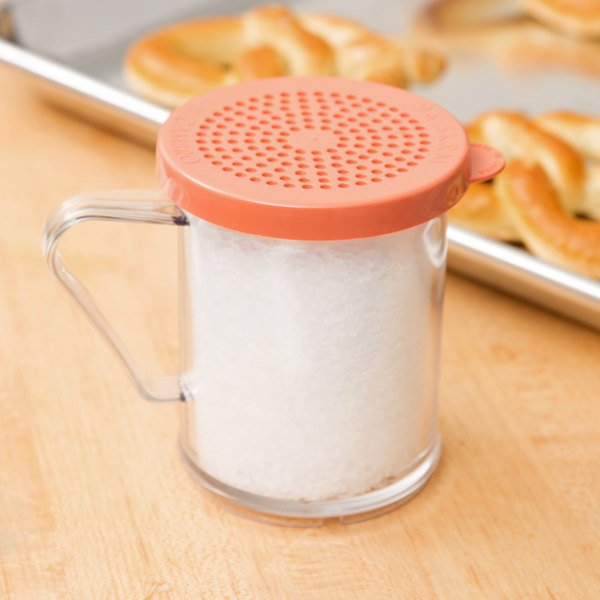 Cambro 96SKRM135 Camwear 10 oz. Polycarbonate Shaker with Rose Lid for Medium Ground Product