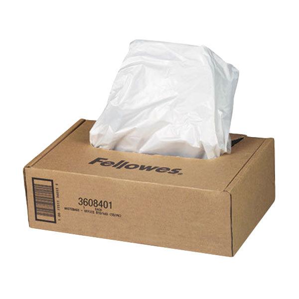 Fellowes 3608401 AutoMax 16-20 Gallon Shredder Bag - 50/Case Main Image 1