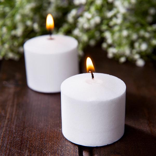 Leola 10 Hour White Votive Candle - 72/Pack