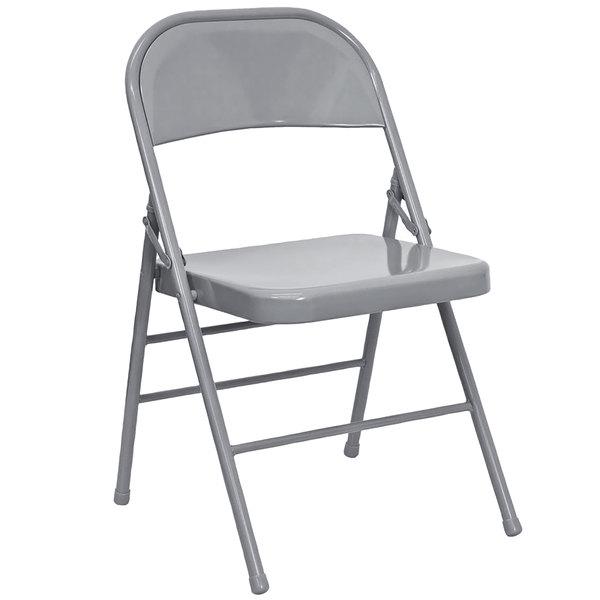Flash Furniture HF3-MC-309AS-GY-GG Gray Metal Folding Chair