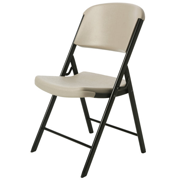 Lifetime 80203 Putty Contoured Folding Chair