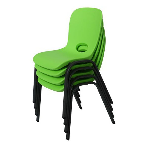 Pleasing Lifetime 80473 Green Stacking Childrens Chair 4 Pack Caraccident5 Cool Chair Designs And Ideas Caraccident5Info