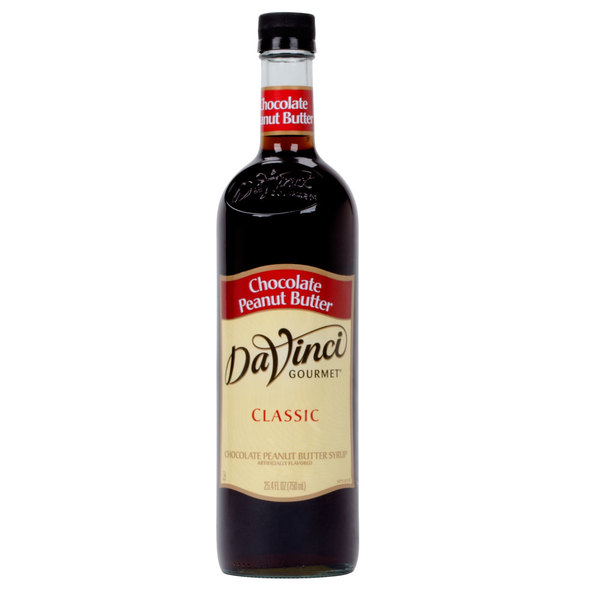 DaVinci Gourmet 750 mL Classic Chocolate Peanut Butter Flavoring Syrup