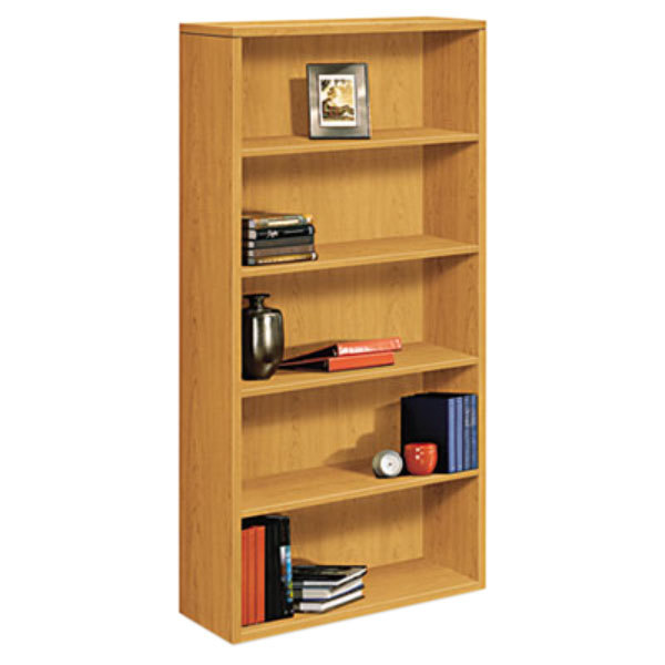 "HON 105535CC 10500 Series Harvest 5 Shelf Laminate Wood Bookcase - 36"" x 13 1/8"" x 71"" Main Image 1"