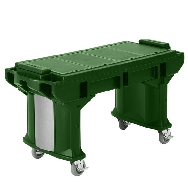 Cambro VBRTLHD5519 Green 5' Versa Work Table with Heavy Duty Casters - Low Height