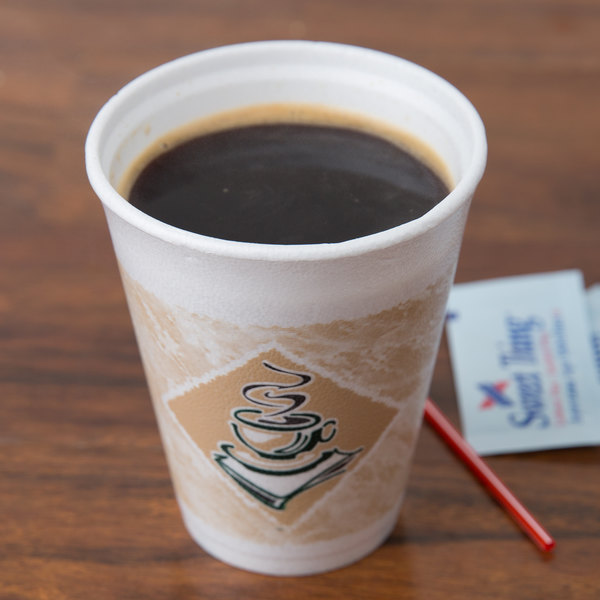 Dart 10X10GWRAP 10 oz. Cafe G Hotel and Motel Individually Wrapped Foam Hot Cup - 900/Case