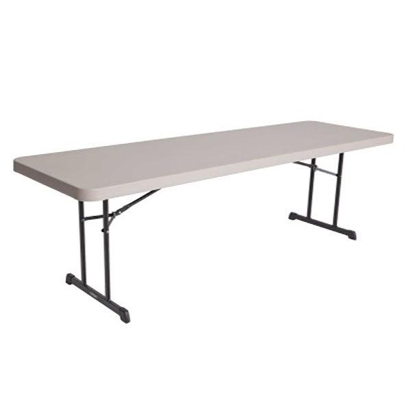 "Lifetime 880127 30"" x 96"" Rectangular Putty Professional-Grade Plastic Folding Table - 18/Pack"