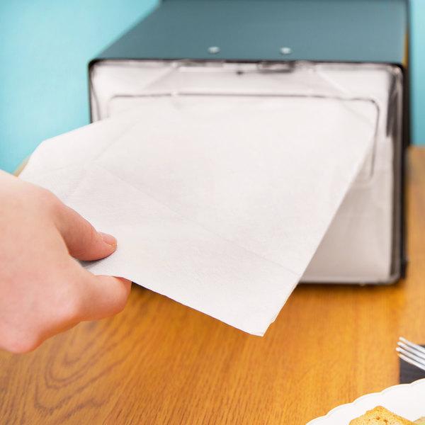 Morcon D1217 White Off-Fold Full-Fold Dispenser Napkin - 6000/Case