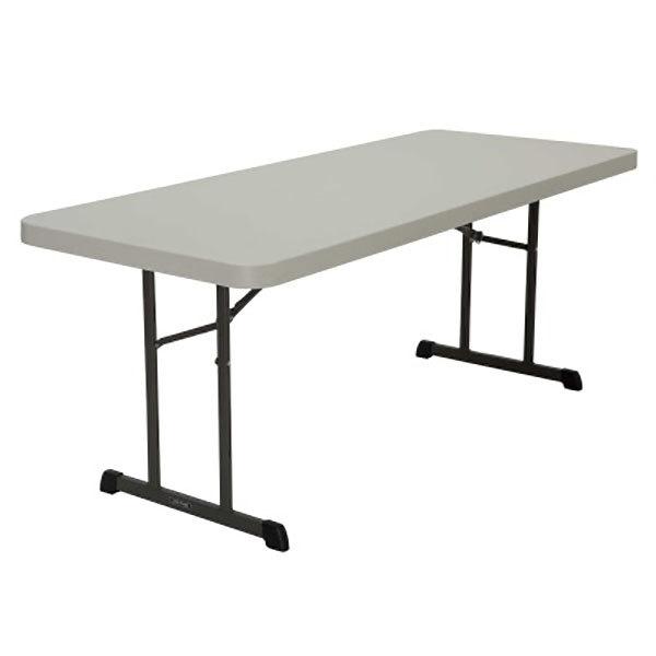 "Lifetime 880249 30"" x 72"" Rectangular Almond Professional-Grade Plastic Folding Table - 18/Pack"