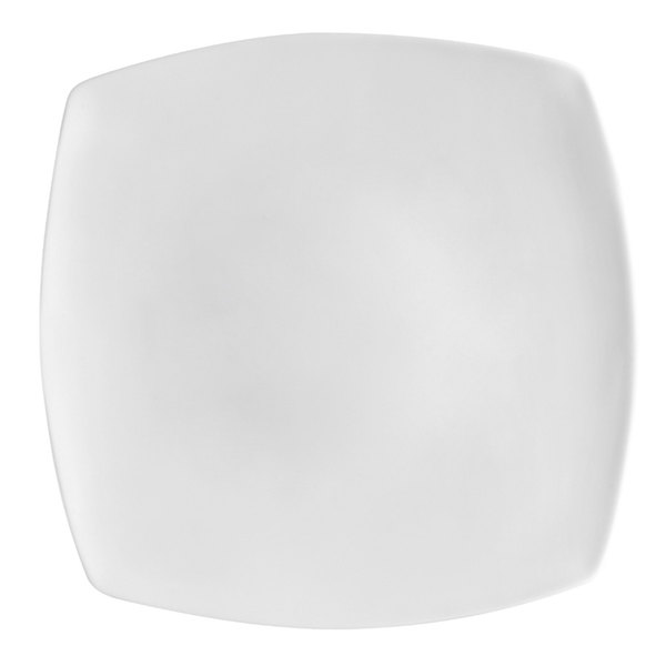 "CAC RCN-FS16 Bright White Clinton Flat Plate 10 1/2"" Square - 12/Case"