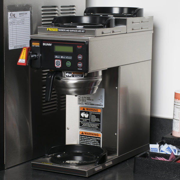 Bunn 38700.0080 BrewWise Axiom DV-3 12 Cup RFID Coffee Brewer with 1 Lower and 2 Upper Warmers - Dual Voltage