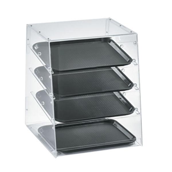 "Vollrath KDC1418-4R-06 Acrylic Bakery Display Case with Split Rear Doors - 18 1/2"" x 19 5/8"" x 22 3/4"""