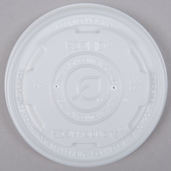 Eco Products EP-ECOLID-SPL EcoLid 12-32 oz. Soup / Hot & Cold Food Cup Lid  - 500/Case